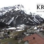 Wetter Kleinwalsertal Mittelberg am 03.04.2016