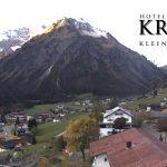 Wetter Kleinwalsertal Mittelberg am 12.10.2017