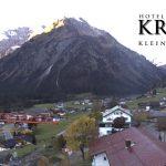 Wetter Kleinwalsertal Mittelberg am 14.10.2017