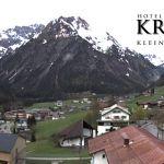 Wetter Kleinwalsertal Mittelberg am 27.04.2020