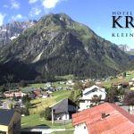 Wetter Kleinwalsertal Mittelberg am 07.07.2020