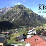 Wetter Kleinwalsertal Mittelberg am 09.07.2020